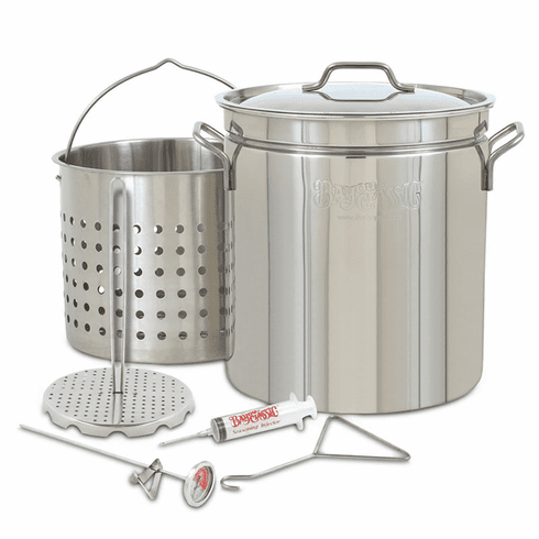 Bayou Classic 44-qt Stainless Grand Gobbler with Basket, Model 1198