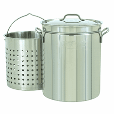 Bayou Classic 44 Qt Stainless Stockpot w/ Basket, Model# 1144