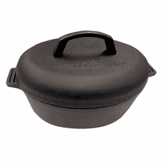 Bayou Classic 6-qt Cast Iron Oval Roaster with Lid, Model 7415