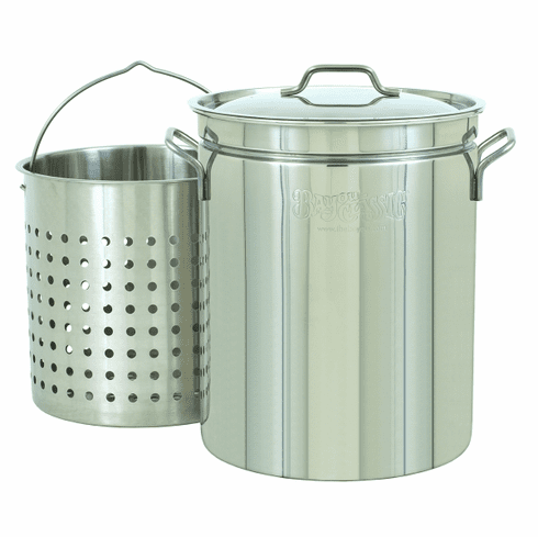 Bayou Classic 62 Qt Stainless Stockpot w/ Basket, Model# 1160