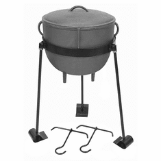 Bayou Classic 7-gal Jambalaya Kettle, with Lid and Stand, Model CI7007