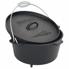 Bayou Classic 8.5 Qt Camp Dutch Oven w/ Feet And Stainless Handle, Model# 7360
