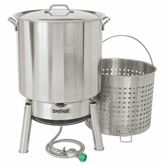 Bayou Classic 82 Qt Crawfish Boiling Kit (Kds1 Cooker & 82 Quart Stainless Pot), Model# KDS-182