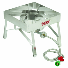 """Bayou Classic Stainless Steel Brew Cooker, 16"""" X 16"""", 10 PSI, Model# SS84"""