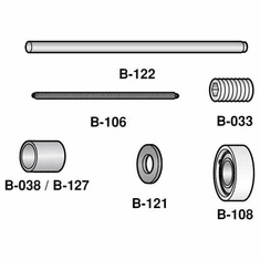 Berkel Carriage Rod (Stainless Steel)/Parts For Berkel Slicers (Made In The USA), Model# b-122