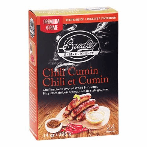 Bradley Premium Chili Cumin Infused Bisquettes 24-Pack Model BTCC24