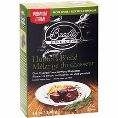Bradley Smoker 24 Pack Hunter's Blend Premium Bisquettes, Model# BTHB24