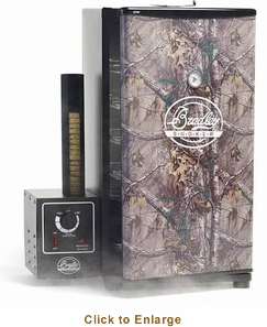 Bradley Realtree Camo XLT Smoker - 6 Rack, 108L, Includes 6 Jerky Racks and 4 Sausage Hooks Model BS815XLTF