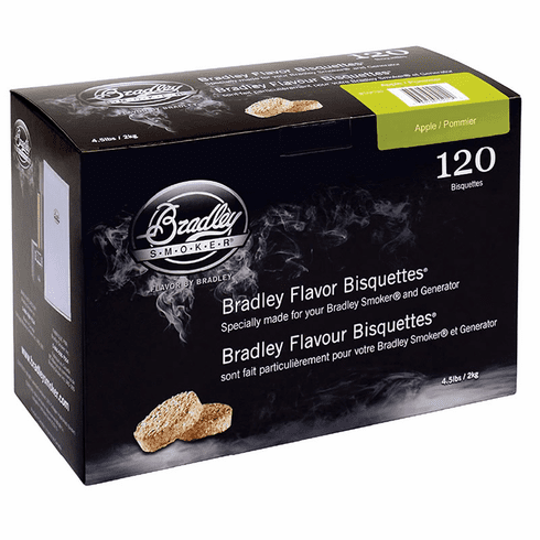 Bradley Smoker 120 Pack Apple Bisquettes, Model# BTAP120