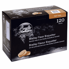 Bradley Smoker 120 Pack Maple Bisquettes, Model# BTMP120