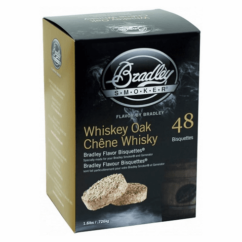 Bradley Smoker 48 Pack Whiskey Oak Bisquettes, Model# BTWOSE48