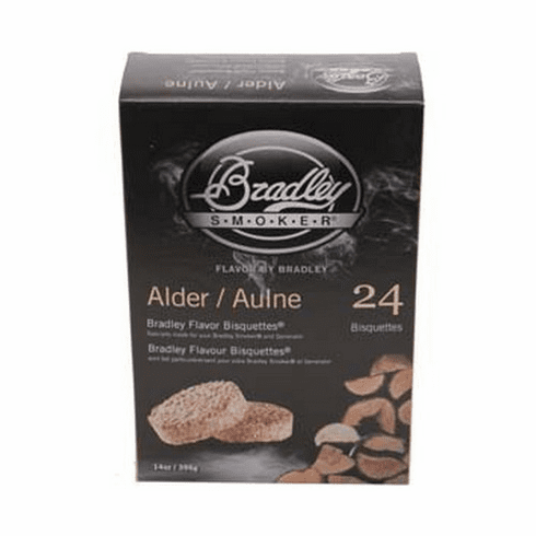 Bradley Smoker Alder Bisquettes 24 Pk For Bradley Smokers, Model# BTAL24