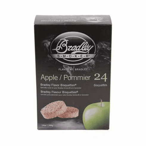 Bradley Smoker Apple Bisquettes 24 Pk For Bradley Smokers , Model# BTAP24