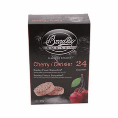 Bradley Smoker Cherry Bisquettes24 Pack For Bradley Smokers, Model# BTCH24