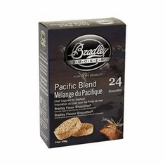 Bradley Smoker Pacific Blend Bisquettes24 Pack For Bradley Smokers, Model# BTPB