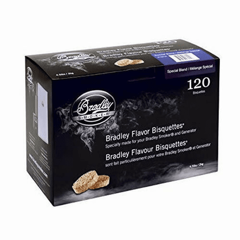 Bradley Smoker 120 Pack Special Blend Bisquettes, Model# BTSB120