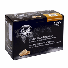 Bradley Smoker 120 Pack Whiskey Oak Bisquettes, Model# BTWOSE120