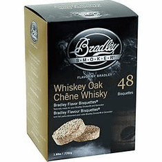 Bradley Smoker Whiskey Oak Special Edition Bisquettes , Model# BTWOSE48