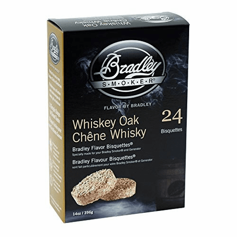 Bradley Smoker 24 Pack Whiskey Oak Bisquettes, Model# BTWOSE24