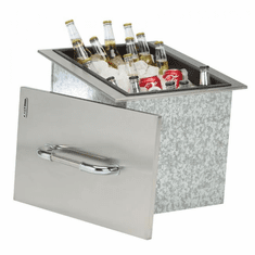 Bull Outdoor Ice Chest With Cover And Drain Stainless Steel Drop-In, Model# 00002