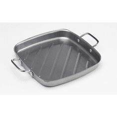 "Bull Outdoor Non-Stick Square Grill Pan 11"" Silver Color , Model# 24120"