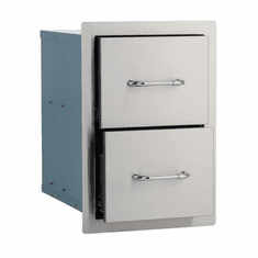 Bull Outdoor Stainless Steel Double Drawer, Model# 56985