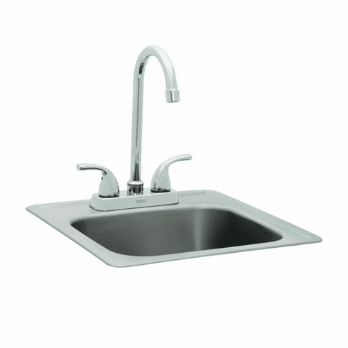Bull Outdoor Stainless Steel Sink w/ Faucet, Model# 12389