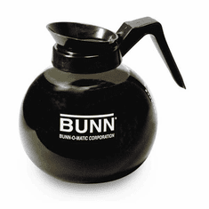 Bunn Decanter,Glass-Blk 12C 3/Cs, Model# 42400.0103