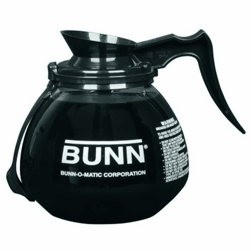 Bunn Decanter,Glass-Blk 12C 3/Cs Rfid Collars, Model# 42400.0203