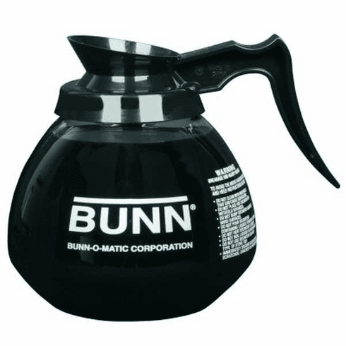 Bunn Glass Coffee DecanterBlack12 Cup1 Per Pack, Model# 42400.0101
