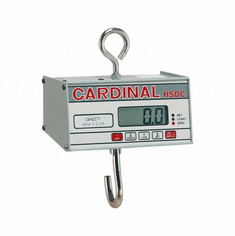 Cardinal Detecto Battery Powered Hanging Scale 500 Lb X .2 Lb, Model# HSDC-500