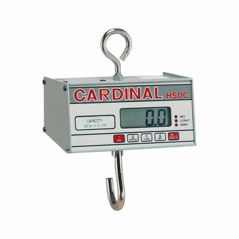 Cardinal Detecto Battery Powered Hanging Scale200 LbX .1 LbCapacity, Model# HSDC-200