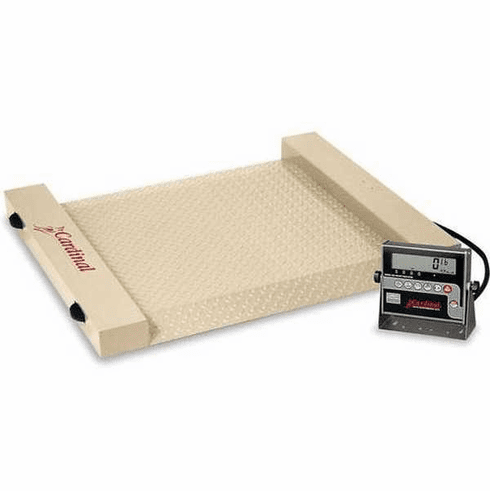 "Cardinal Detecto Run-A-Weigh Portable Floor Scale 24.5"" X 30"", Model# RW-1000"
