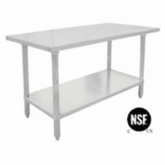Commercial 24 Width Work Tables