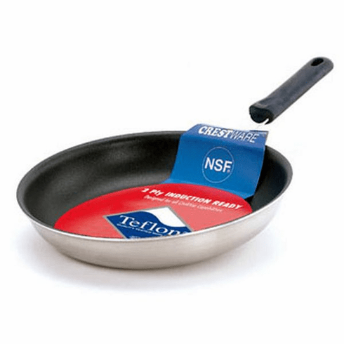 """Crestware 10 3/8"""" Coated Induct Frypan, Model# FRY10XIH"""