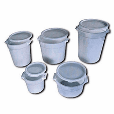 Crestware 4 Qt Round White Container, Model# RCW4