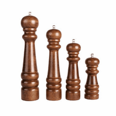 "Crestware 8"" Wood Pepper Mill, Model# WPM08"