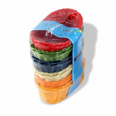 Crestware Colored 9 X 6 X 3 Oval Baskets, Model# CRB5