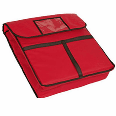 Crestware Pizza Bag Red 20X20X5, Model# PZB20