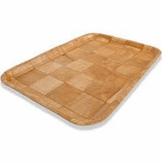 Crestware Woven Wood Tray Rect12X16, Model# CWT1216