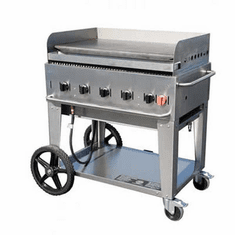 "Crown Verity Mobile Outdoor Griddle 36"", Model# CV-MG-36"