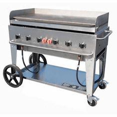 "Crown Verity Mobile Outdoor Griddle 48"", Model# CV-MG-48"