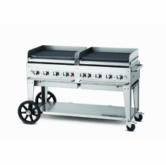 "Crown Verity Mobile Outdoor Griddle 60"" - Nat Gas, Model# CV-MG-60 NG"