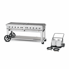 "Crown Verity Mobile Outdoor Griddle 72"", Model# CV-MG-72"