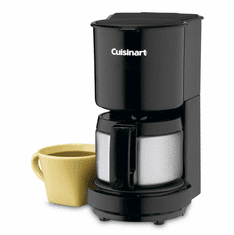 Cuisinart 4-Cup Coffeemaker With Stainless Steel Carafe (Black), Model# DCC-450BK