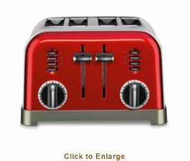 Cuisinart 4-Slice Metal Classic Toaster (Metallic Red) , Model# CPT-180MR