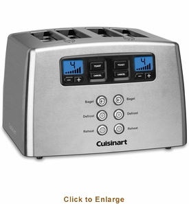 Cuisinart 4-Slice Toaster Countdown Leverless, Model# CPT-440