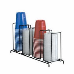 Dispense Rite Four Section Wire Rack Cup And Lid Organizer , Model# WR-4