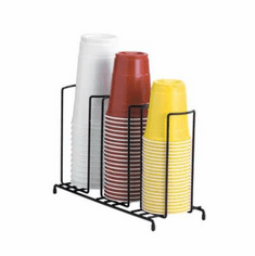 Dispense Rite Three Section Wire Rack Cup And Lid Organizer , Model# WR-3