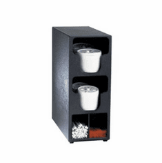 Dispense Rite Two Section Countertop Vertical Lid & Straw Organizer, Model# TLO-2BT